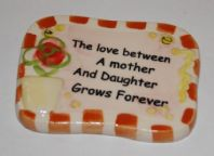 Ceramic Mother Verse Magnet - Orange
